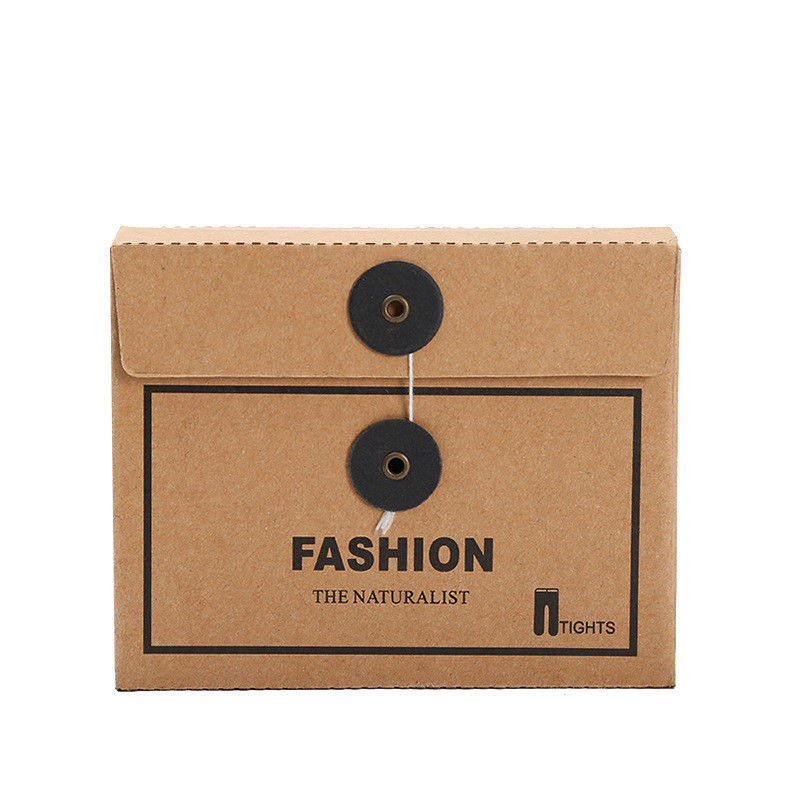 Envelope Design Kraft Cardboard Paper Box For Unerwear T Shirt  Socks