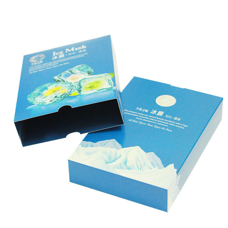 Crack Resistant Paper Packaging Box White Cardboard ISO14001 , FSC Certificates