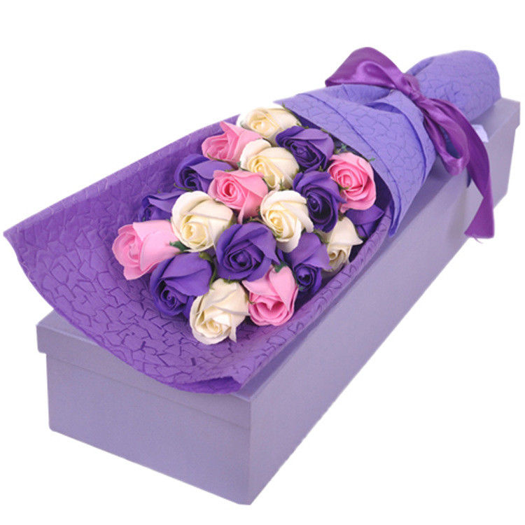Collapsible Flower Gifts Paper Packaging Box CMYK Or Pantone Printing