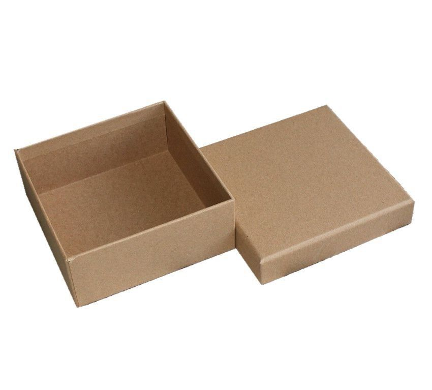 900gsm Gray Cardboard Kraft Paper Packaging Box Square Gift Boxes With Lids