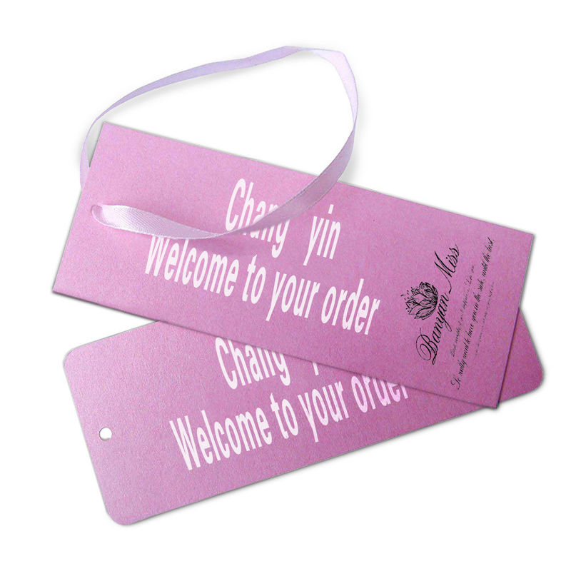 White Cardboard Custom Card Printing Paper Hanging Tag Gift Card For Clothes