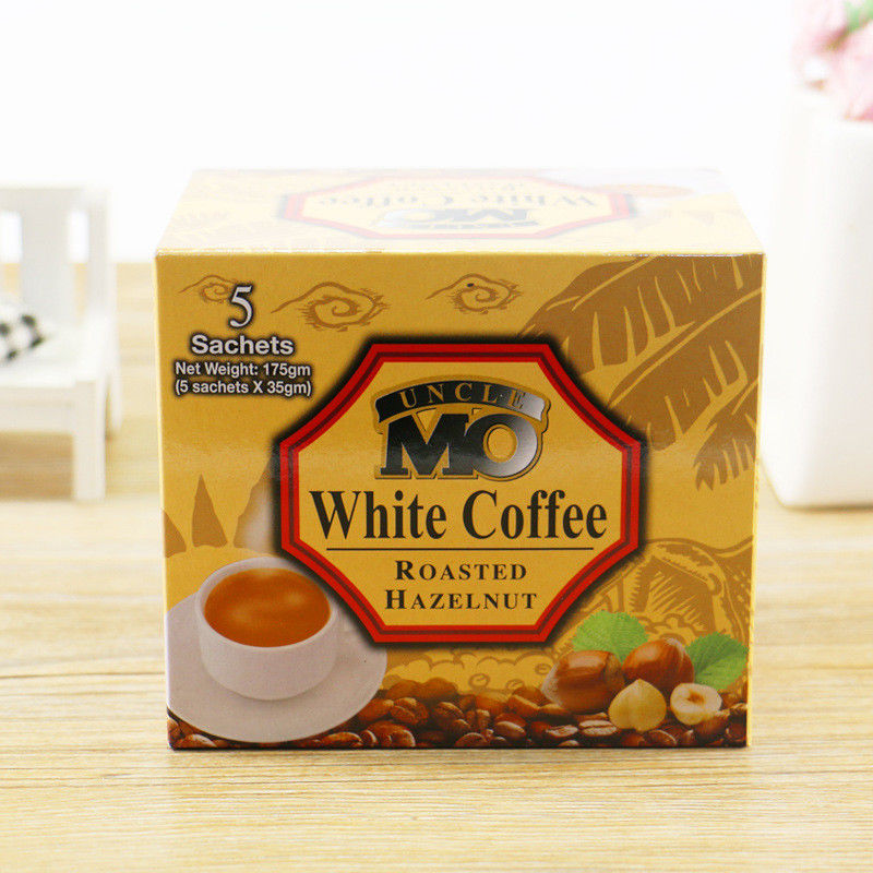 Foldable Custom Coffee Packaging Mocha White Coffee Paper Box Packaging